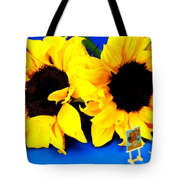 Van Gogh's Sunflower Miniature Art Tote Bag by Paul Ge