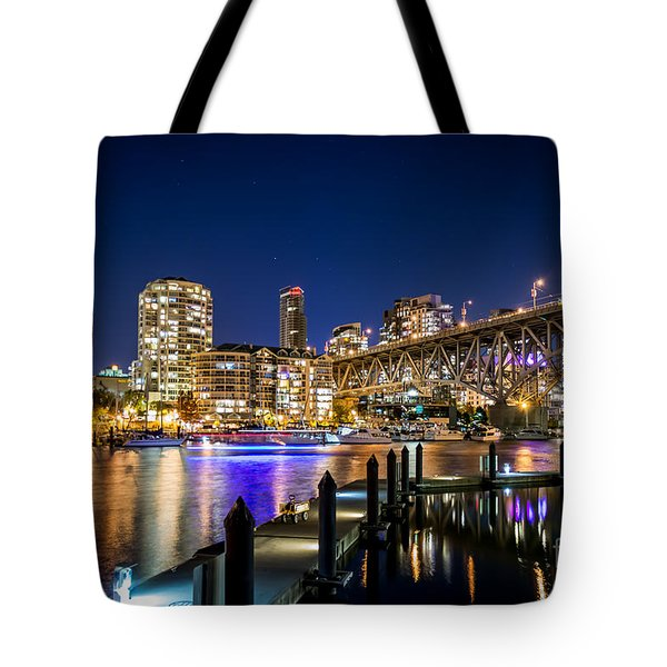 Vancouver At Night Tote Bag