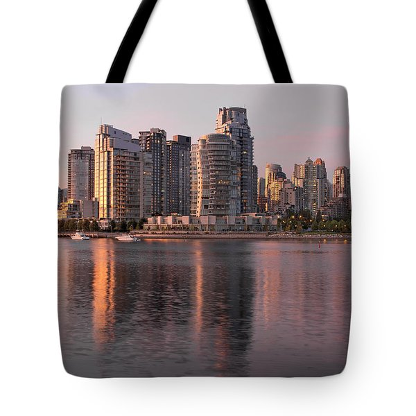 Tote Bag featuring the photograph Vancouver Bc Waterfront Condominiums by JPLDesigns