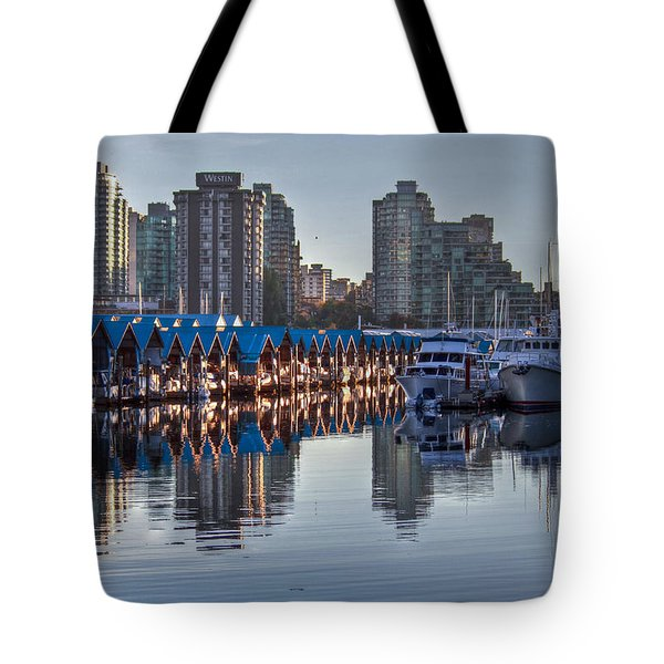 Vancouver Boat Reflections Tote Bag by Eti Reid