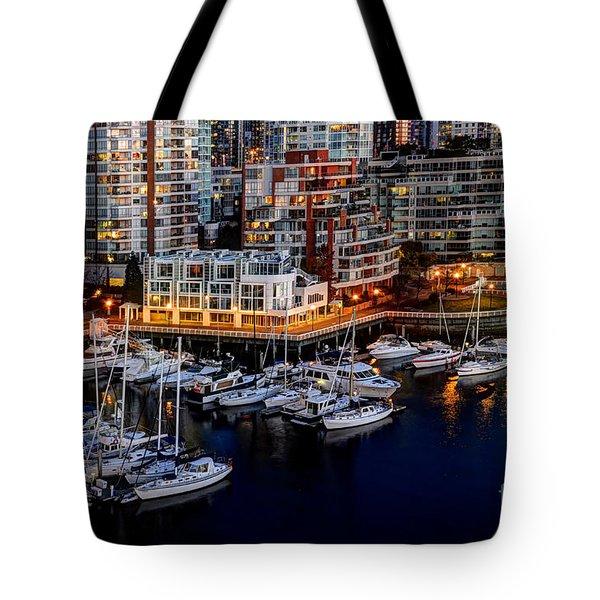 Vancouver British Columbia 10 Tote Bag by Bob Christopher
