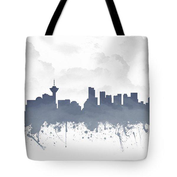 Vancouver British Columbia Skyline - Blue 03 Tote Bag