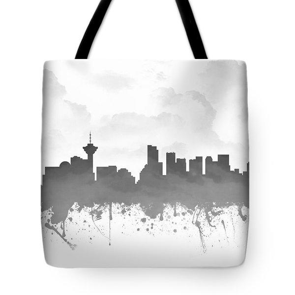 Vancouver British Columbia Skyline - Gray 03 Tote Bag
