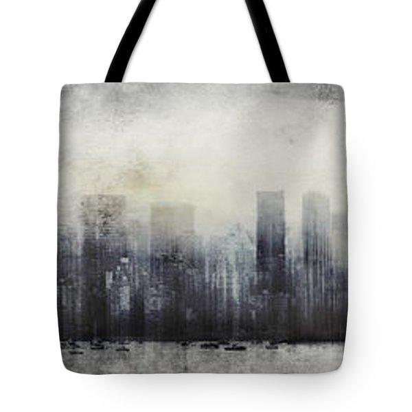 Vancouver Skyline Abstract 1 Tote Bag
