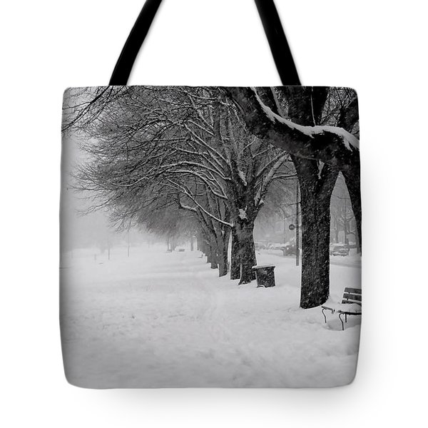Vancouver Winter Trees Tote Bag