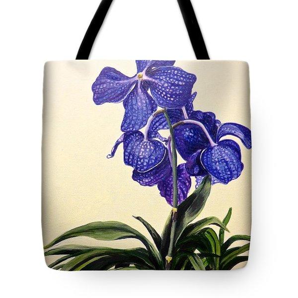 Vanda Sausai Blue Orchid Tote Bag