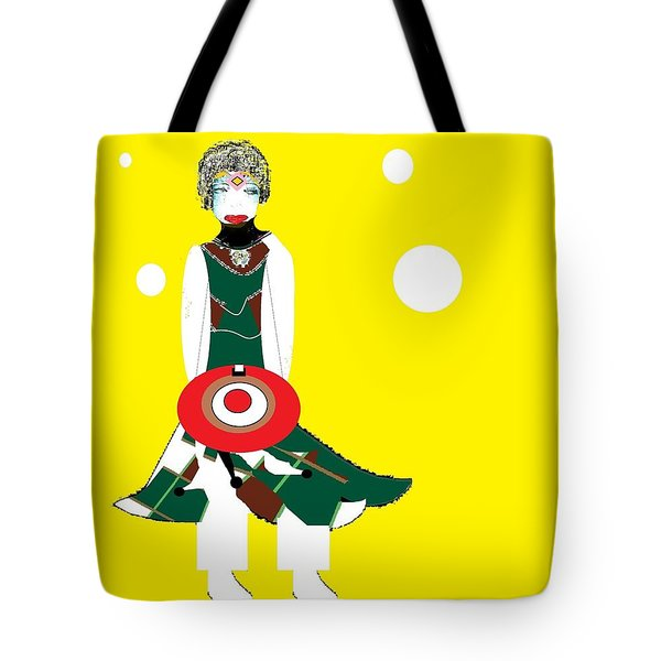 Tote Bag featuring the digital art Vanguard Girl by Ann Calvo