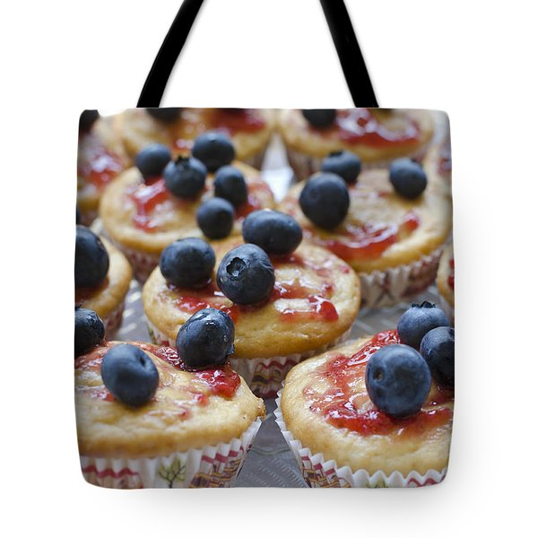 Vanilla Cupcakes With Fresh Blueberries Tote Bag by Maria Janicki