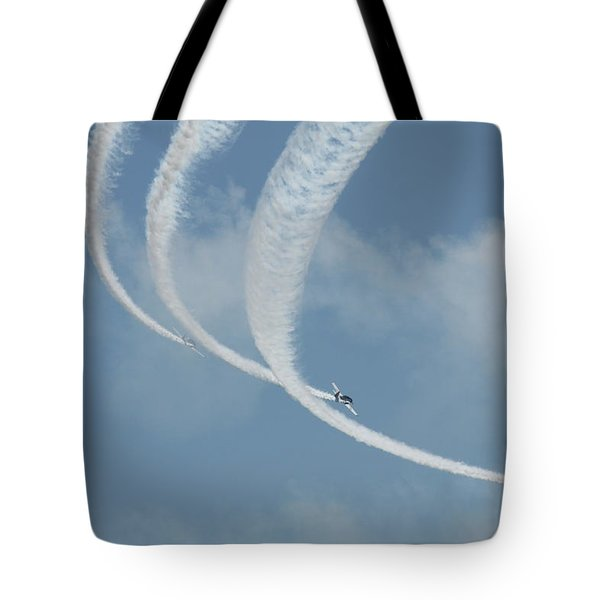 Vapor Trails In The Empty Air Tote Bag
