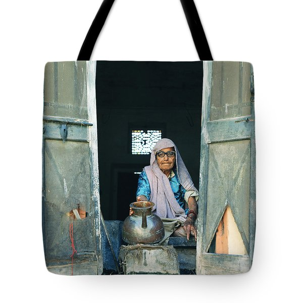 Varanasi Water Seller Tote Bag