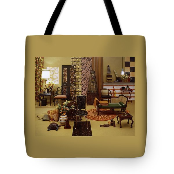 Various Tortoise Shell Furniture And Accessories Tote Bag