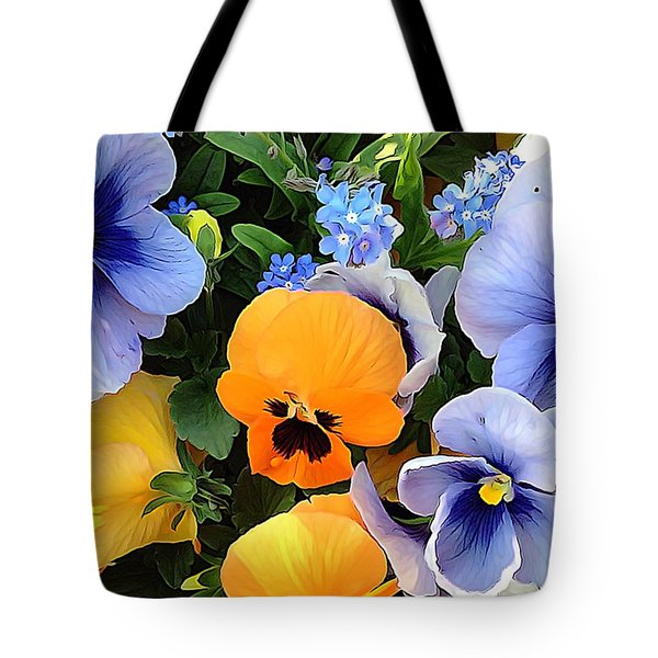 Tote Bag featuring the photograph Various Violets by Gabriella Weninger - David