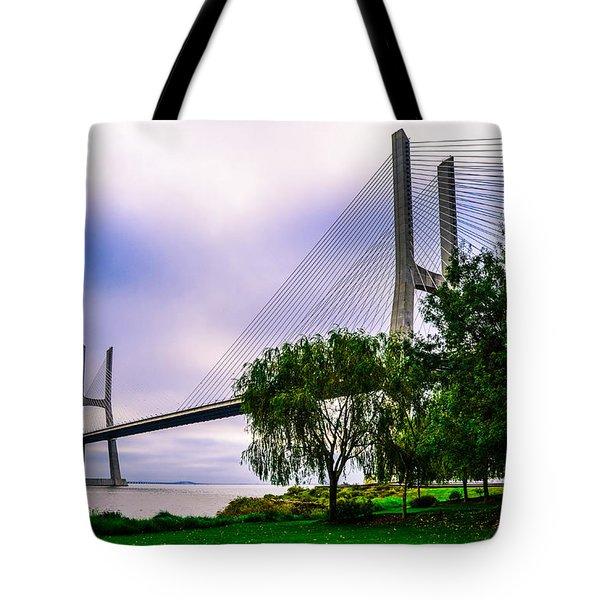 Vasco Da Gama Bridge I Tote Bag
