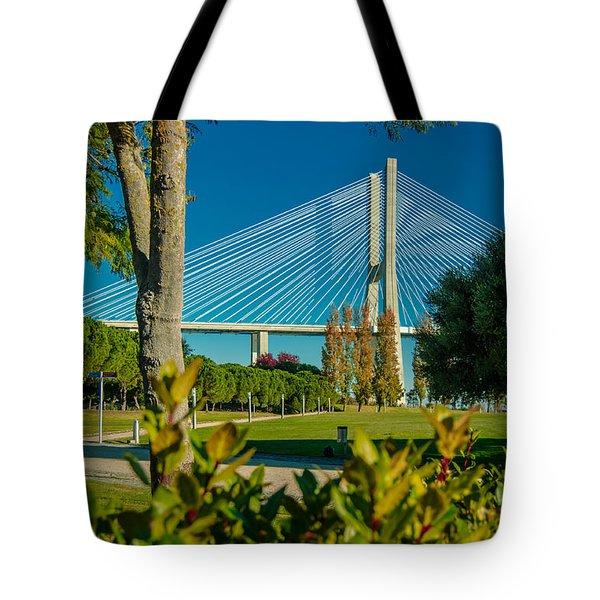 Vasco Da Gama Bridge IIi Tote Bag