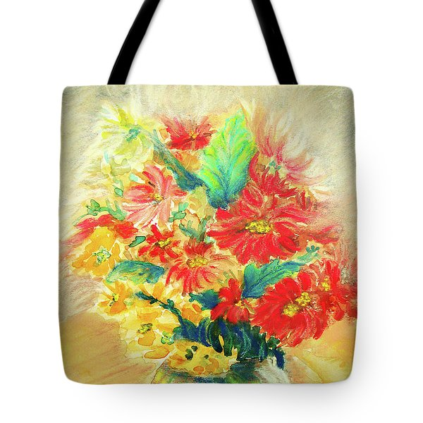Tote Bag featuring the painting Vase by Jasna Dragun