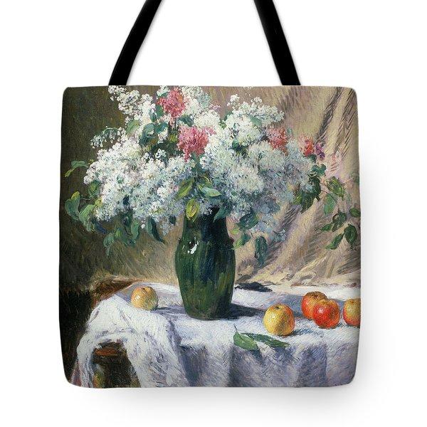 Vase Of Flowers Tote Bag by Henri Lerolle