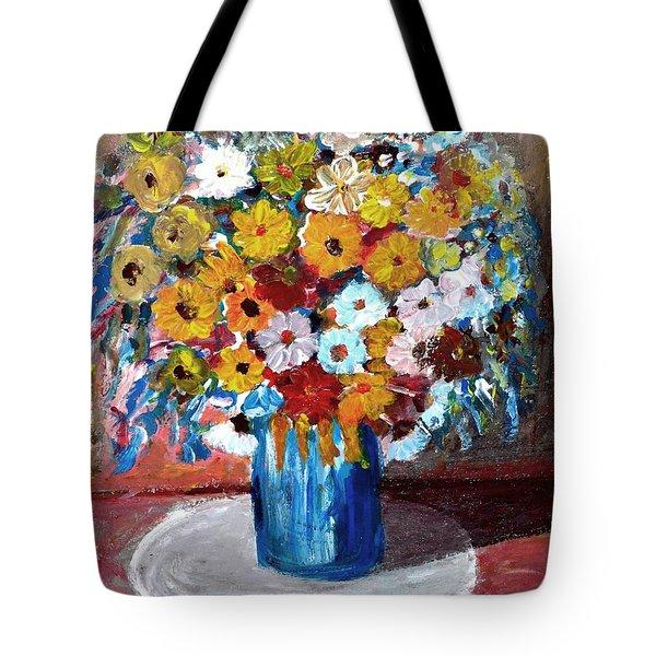 Vase Of Spring Tote Bag by Mauro Beniamino Muggianu