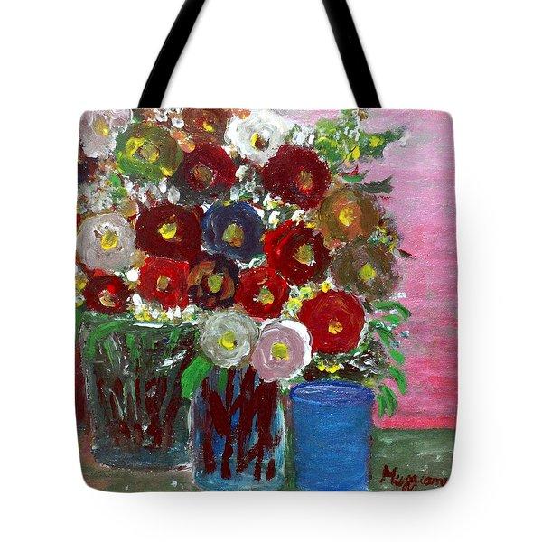 Vases Of Spring  Tote Bag by Mauro Beniamino Muggianu