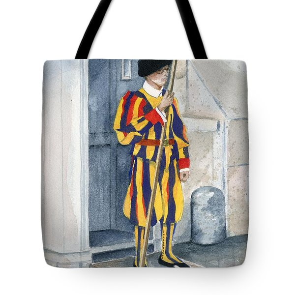 Vatican Guard Tote Bag by Marsha Elliott