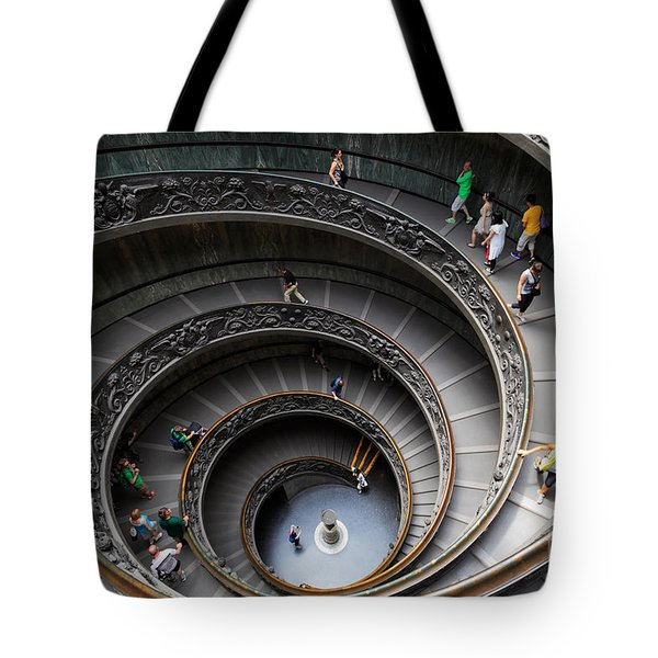 Vatican Spiral Staircase Tote Bag by Inge Johnsson