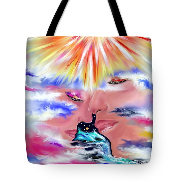 Tote Bag featuring the drawing Eternal Love by Lori  Lovetere