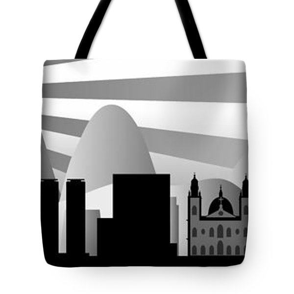vector Rio skyline with ball Tote Bag by Michal Boubin