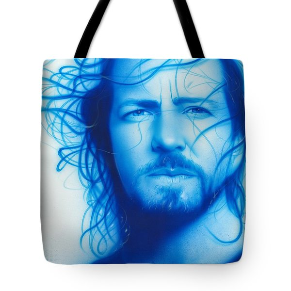 Eddie Vedder - ' Vedder ' Tote Bag by Christian Chapman Art