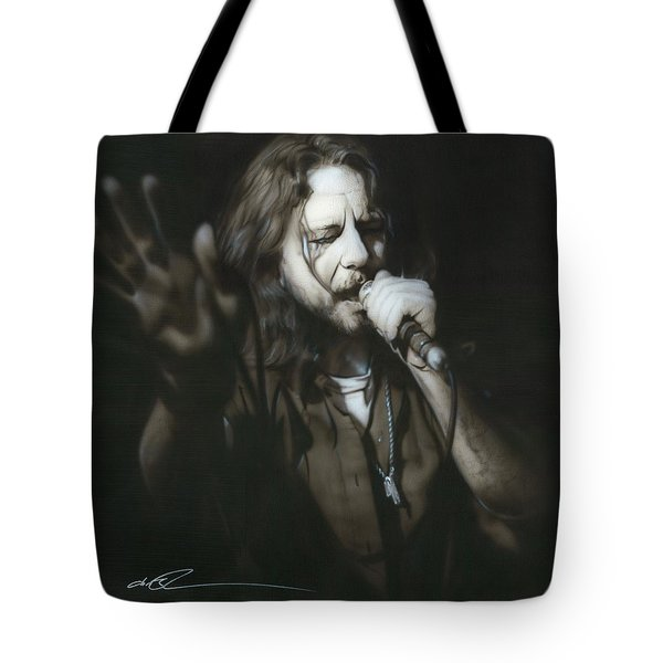Eddie Vedder - ' Vedder IIi ' Tote Bag by Christian Chapman Art