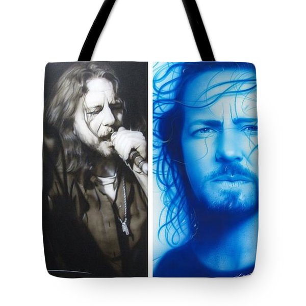 Eddie Vedder - ' Vedder Mosaic I ' Tote Bag by Christian Chapman Art