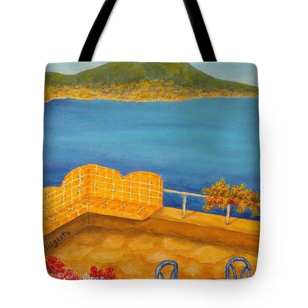 Veduta Di Vesuvio Tote Bag by Pamela Allegretto
