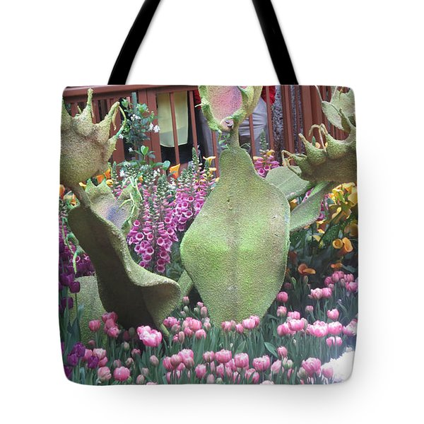 Tote Bag featuring the photograph Vegas Butterfly Garden Flowers Cactus Romanti Interior Decorations by Navin Joshi