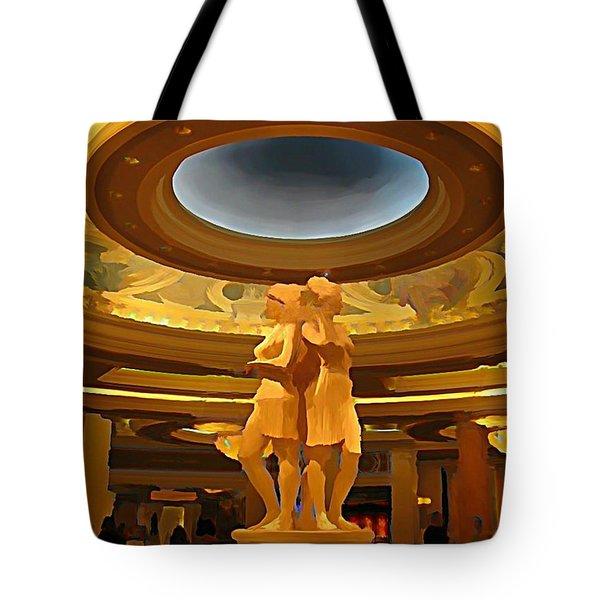 Vegas Hotel Interior Tote Bag by John Malone