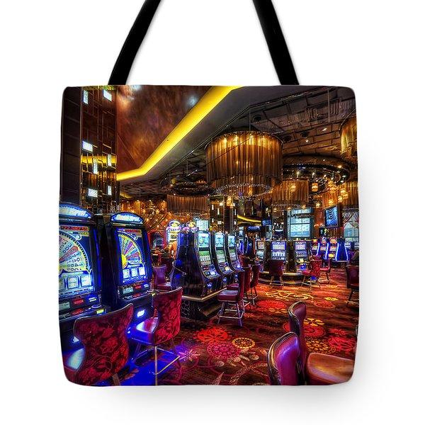 Vegas Slot Machines Tote Bag by Yhun Suarez