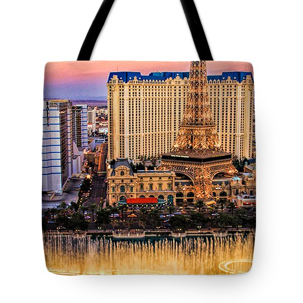 Vegas Water Show Tote Bag