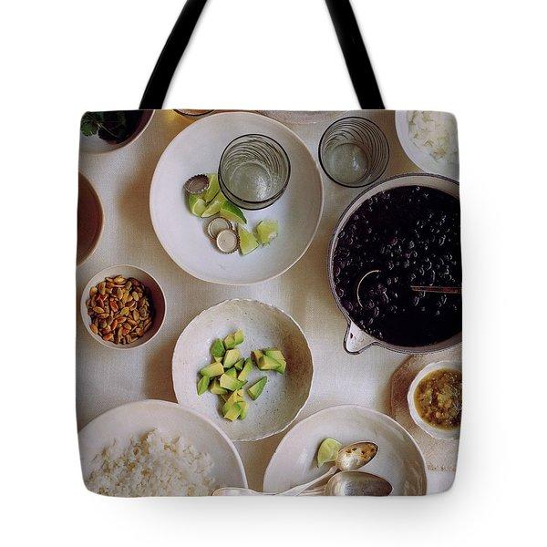 Vegetarian Dishes Tote Bag