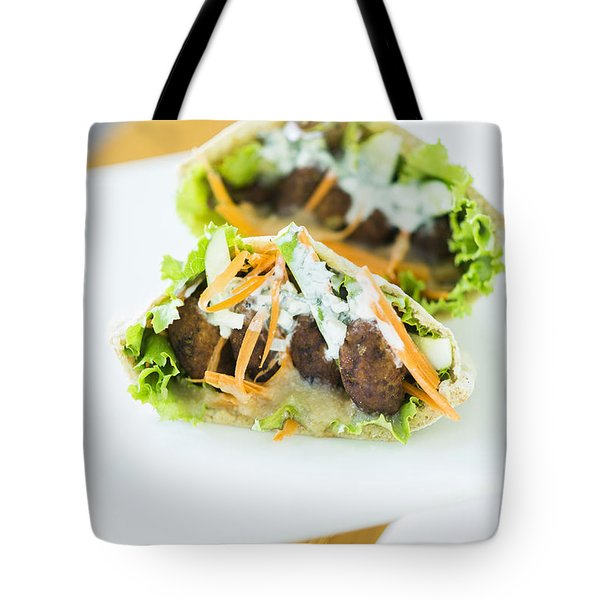 Vegetarian Falafel In Pita Bread Sandwich Tote Bag