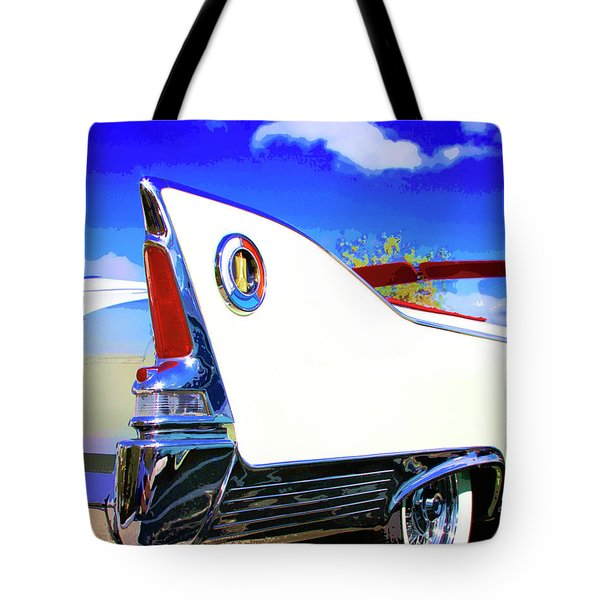 Vehicle Launch Palm Springs Tote Bag by William Dey