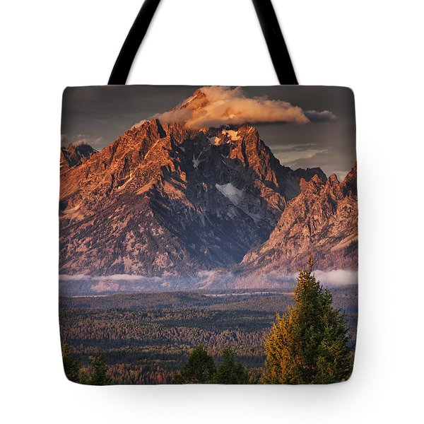 Veiled Tetons Tote Bag