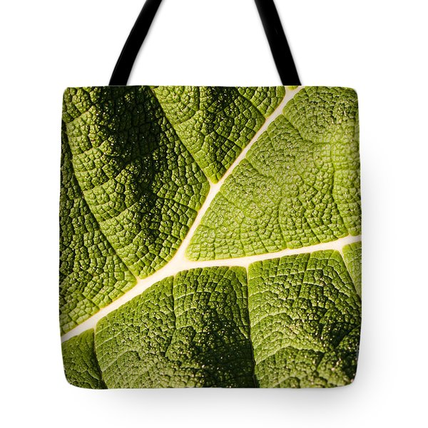 Veins Of A Leaf Tote Bag