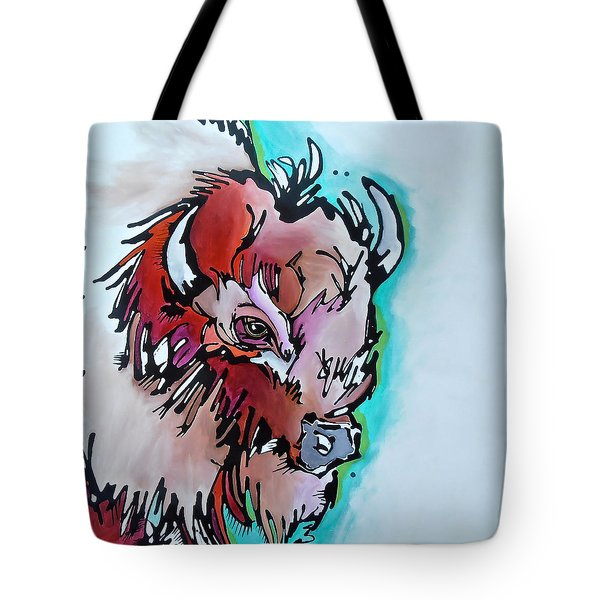 Tote Bag featuring the painting Velvet Stud by Nicole Gaitan