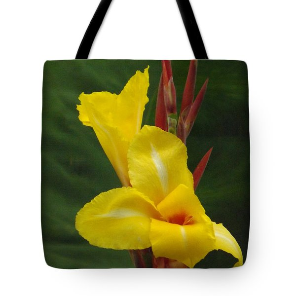 Velvety Yellow Iris  Tote Bag