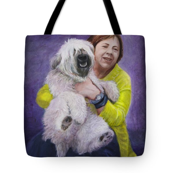 Tote Bag featuring the painting Venerate by Ron Richard Baviello