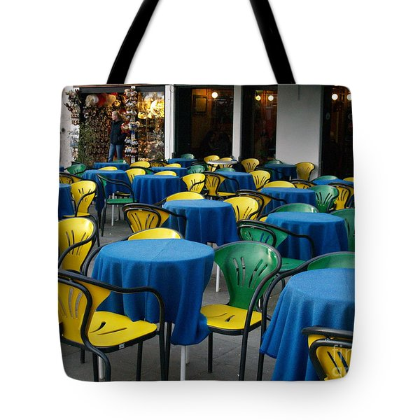 Tote Bag featuring the photograph Venetian Cafe by Robin Maria Pedrero