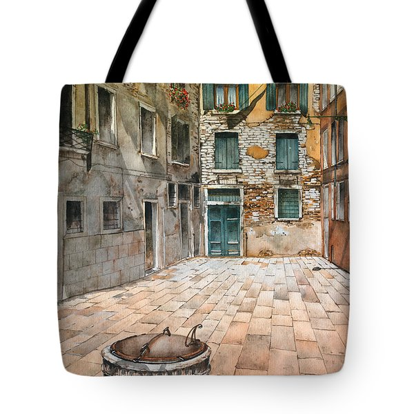 Venetian Courtyard 02 Elena Yakubovich Tote Bag