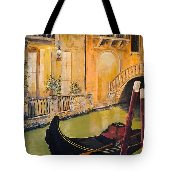 Tote Bag featuring the painting Venetian Evening by Alan Lakin