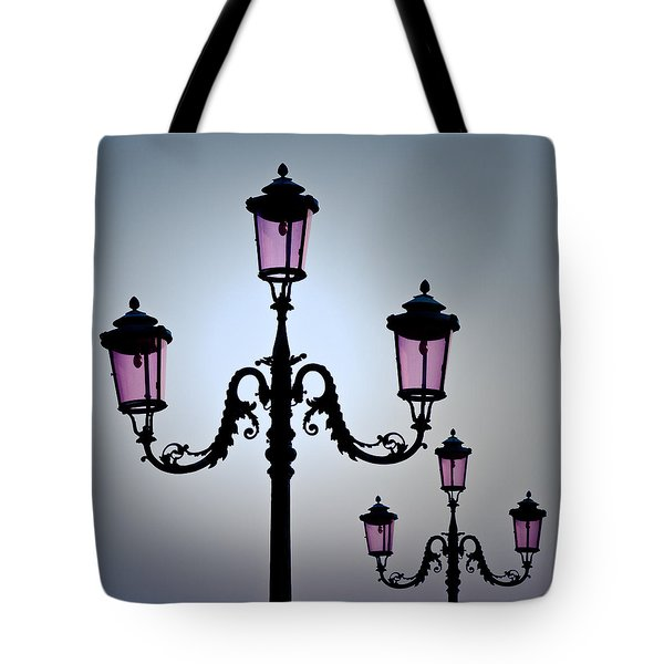 Venetian Lamps Tote Bag by Dave Bowman