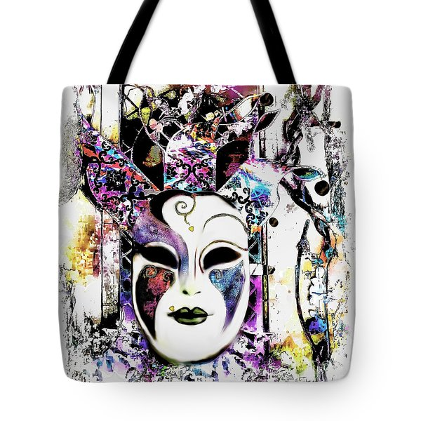 Venetian Mask Tote Bag by Barbara Chichester