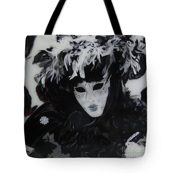 Venetian Mask Tote Bag by Betta Artusi