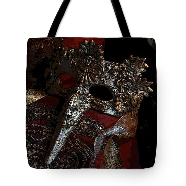 After The Carnival - Venetian Mask Tote Bag by Yvonne Wright