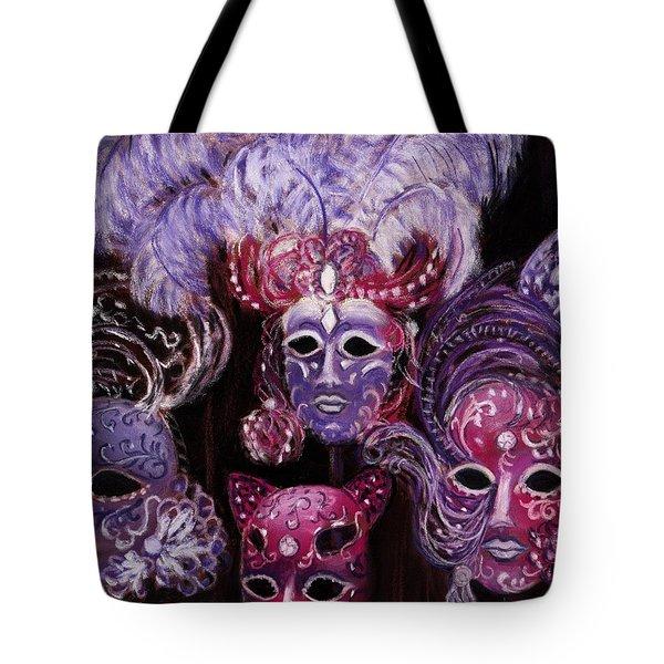 Venetian Masks Tote Bag by Anastasiya Malakhova